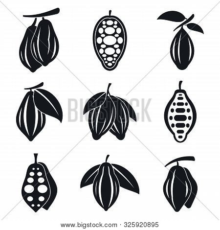 Cocoa Icons Set. Simple Set Of Cocoa Vector Icons For Web Design On White Background