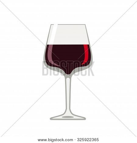 Beaujolais Nouveau. Wine Glass With Beaujolais Nouveau Isolated On White Background