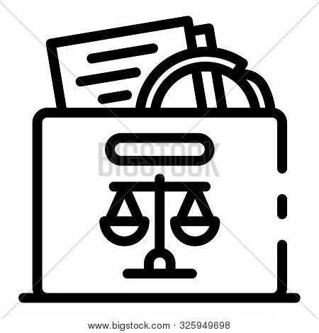 Judicial Evidence Icon. Outline Judicial Evidence Vector Icon For Web Design Isolated On White Backg
