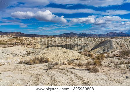 The Badlands of Abanilla and Mahoya near Murcia in Spain poster