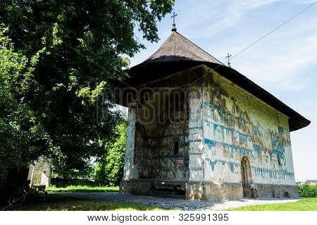 The Arbore Church Is A Romanian Orthodox Monastery Church In Arbore Commune, Suceava County, Romania