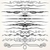 Ornamental Rule Lines. Decorative Design Elements poster