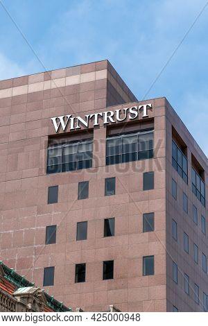 Wintrust Financial Bank Exterior And Trademark Logo