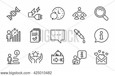 Education Icons Set. Included Icon As Electricity Plug, Handout, Search Signs. Interview Job, Rankin
