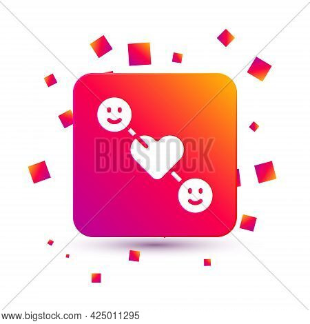 White Romantic Relationship Icon Isolated On White Background. Romantic Relationship Or Pleasant Mee