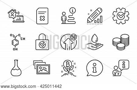 Business Icons Set. Included Icon As Tips, Photo Album, Delete File Signs. 5g Upload, Bitcoin Projec