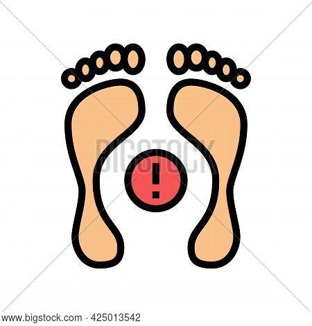 Postural Deformity Feet Color Icon Vector. Postural Deformity Feet Sign. Isolated Symbol Illustratio