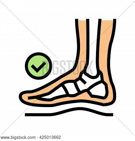 Healthy Bone Feet Color Icon Vector. Healthy Bone Feet Sign. Isolated Symbol Illustration