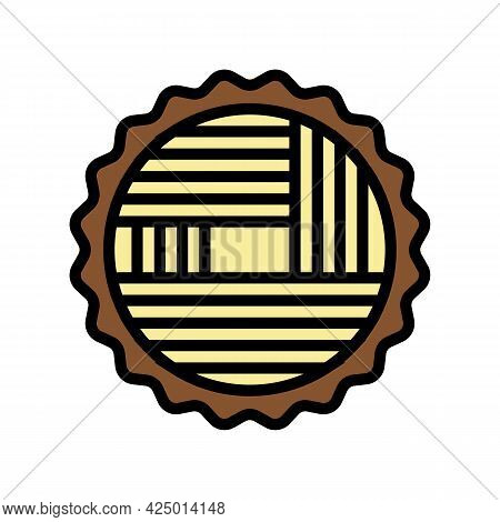 Wood Timber Color Icon Vector. Wood Timber Sign. Isolated Symbol Illustration