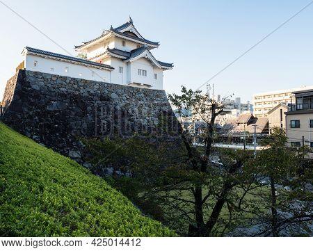 Kofu, Japan - October 26, 2017: Reconstructed Tower Of Kofu Castle (maizuru Castle) In Maizuru Castl