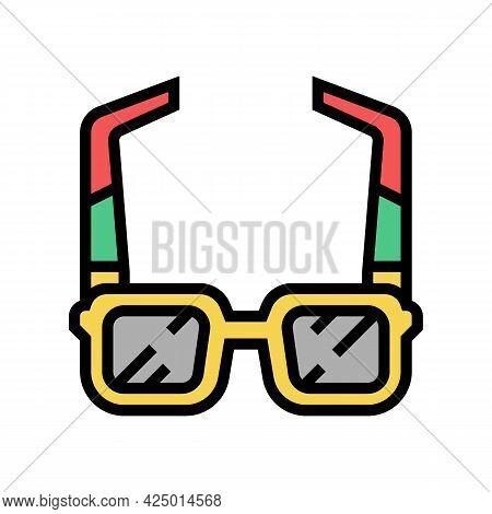 Sunglasses Summer Accessory Color Icon Vector. Sunglasses Summer Accessory Sign. Isolated Symbol Ill
