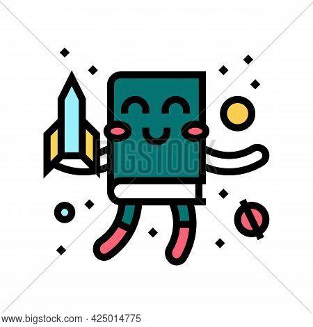 Fantasy Fiction Color Icon Vector. Fantasy Fiction Sign. Isolated Symbol Illustration