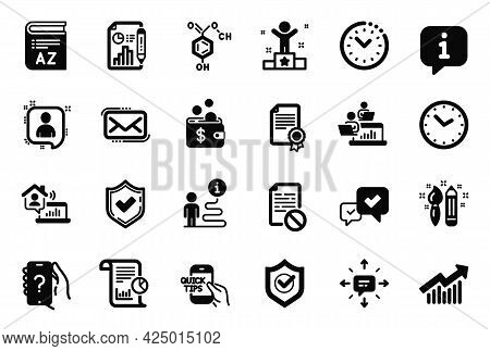 Vector Set Of Education Icons Related To Ask Question, Wrong File And Time Icons. Chemical Formula,