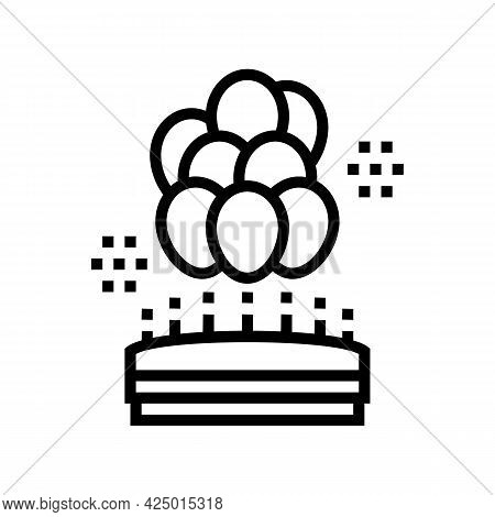 Birthday Balloons Decoration Line Icon Vector. Birthday Balloons Decoration Sign. Isolated Contour S