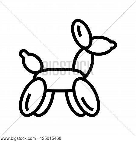 Balloon Sculpture Line Icon Vector. Balloon Sculpture Sign. Isolated Contour Symbol Black Illustrati