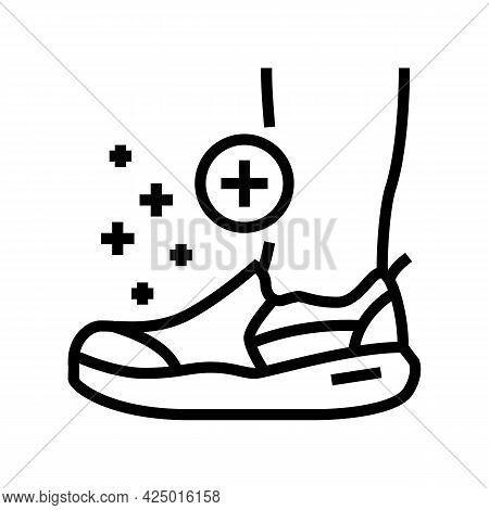 Orthopedic Shoes For Feet Line Icon Vector. Orthopedic Shoes For Feet Sign. Isolated Contour Symbol