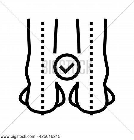 Straight Legs Line Icon Vector. Straight Legs Sign. Isolated Contour Symbol Black Illustration