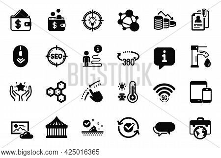Vector Set Of Business Icons Related To Interview Documents, Businessman Case And Approved Icons. Me