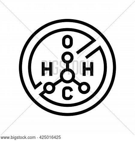 Hydrogen Peroxide Free Keratin Line Icon Vector. Hydrogen Peroxide Free Keratin Sign. Isolated Conto