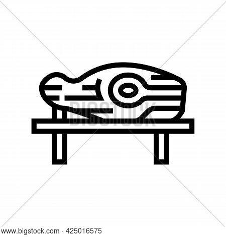 Wooden Handmade Sculpture Line Icon Vector. Wooden Handmade Sculpture Sign. Isolated Contour Symbol