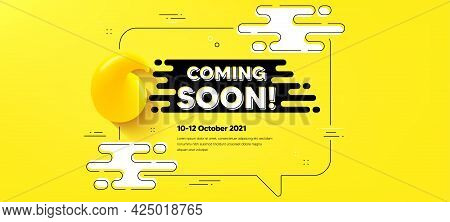 Coming Soon Text. Quote Chat Bubble Background. Promotion Banner Sign. New Product Release Symbol. C