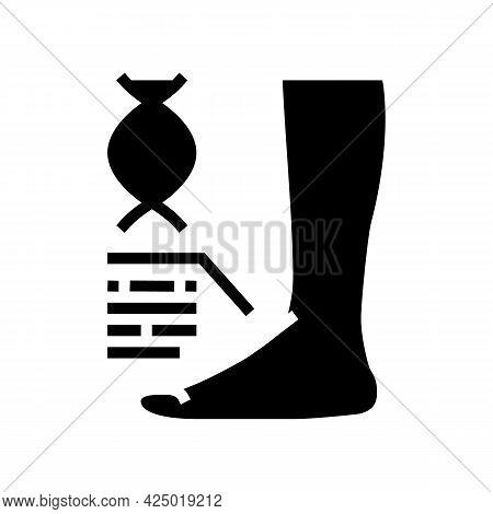 Genetic Flat Feet Disease Glyph Icon Vector. Genetic Flat Feet Disease Sign. Isolated Contour Symbol