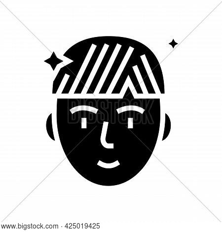 Man After Keratin Used Glyph Icon Vector. Man After Keratin Used Sign. Isolated Contour Symbol Black