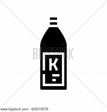 Shampoo Keratin Bottle Glyph Icon Vector. Shampoo Keratin Bottle Sign. Isolated Contour Symbol Black
