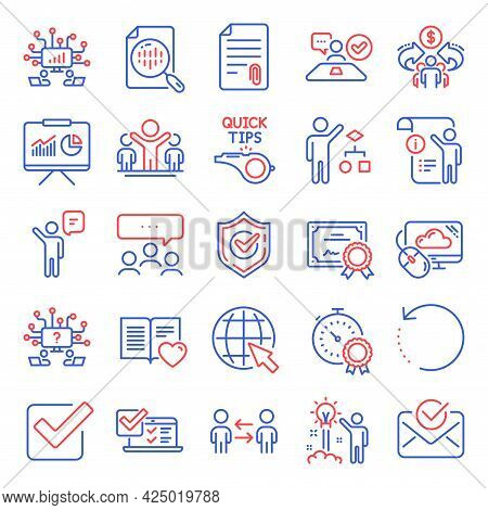 Education Icons Set. Included Icon As Recovery Data, Winner, Certificate Signs. Algorithm, Approved