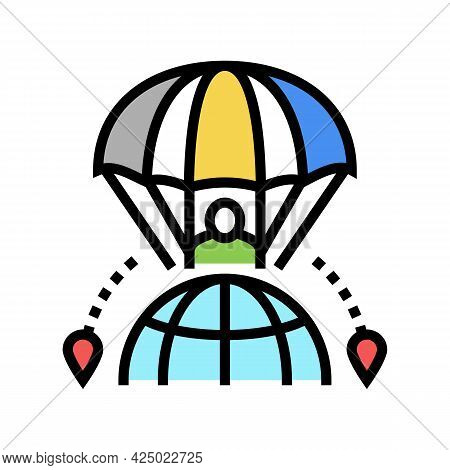 Air Sport Tourism Color Icon Vector. Air Sport Tourism Sign. Isolated Symbol Illustration