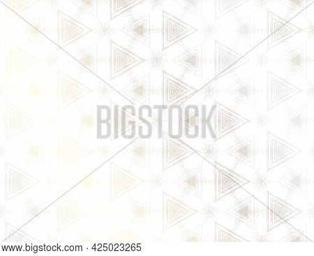 Abstract White And Silver Textured Pattern With Kaleidoscope Effect. Vector Illustration. Symmetric
