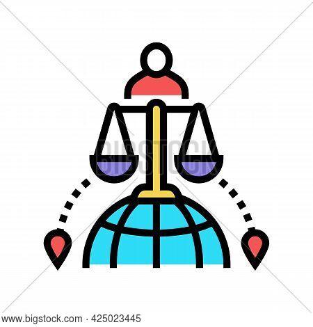 International Adoption Color Icon Vector. International Adoption Sign. Isolated Symbol Illustration