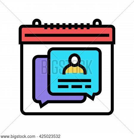 Schedule Consultation Adoption Color Icon Vector. Schedule Consultation Adoption Sign. Isolated Symb