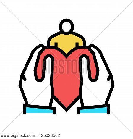 Son Or Daughter Adoption Color Icon Vector. Son Or Daughter Adoption Sign. Isolated Symbol Illustrat