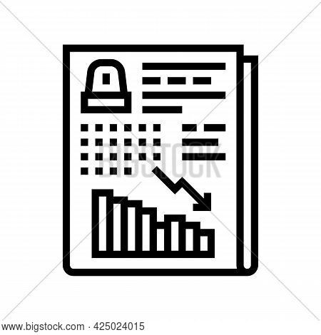 Risk Assessment And Reduction Line Icon Vector. Risk Assessment And Reduction Sign. Isolated Contour