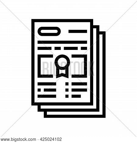 Mandatory Special Audit Line Icon Vector. Mandatory Special Audit Sign. Isolated Contour Symbol Blac