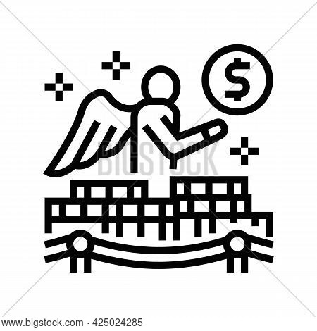 Access To Business Angels Or Venture Capital Line Icon Vector. Access To Business Angels Or Venture