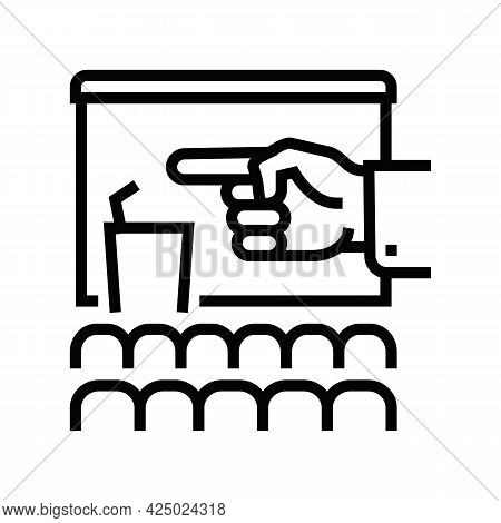 Link To Strategic Partners Line Icon Vector. Link To Strategic Partners Sign. Isolated Contour Symbo