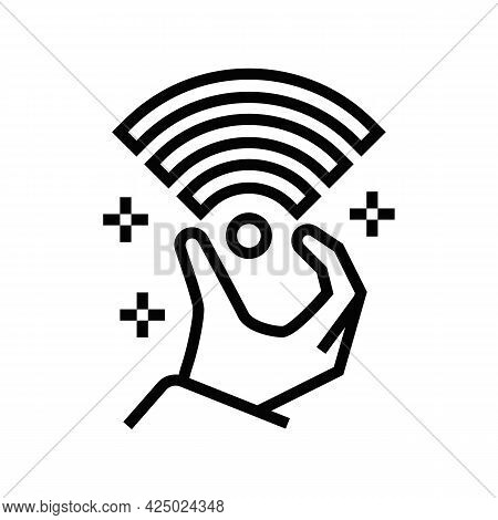High Speed Internet Access Line Icon Vector. High Speed Internet Access Sign. Isolated Contour Symbo