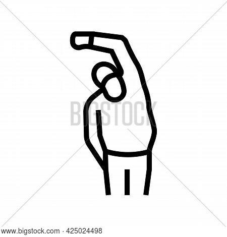 Grandfather Training Line Icon Vector. Grandfather Training Sign. Isolated Contour Symbol Black Illu