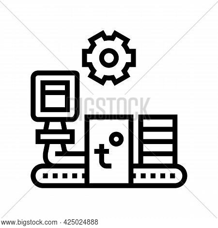 Production Mineral Wool Line Icon Vector. Production Mineral Wool Sign. Isolated Contour Symbol Blac