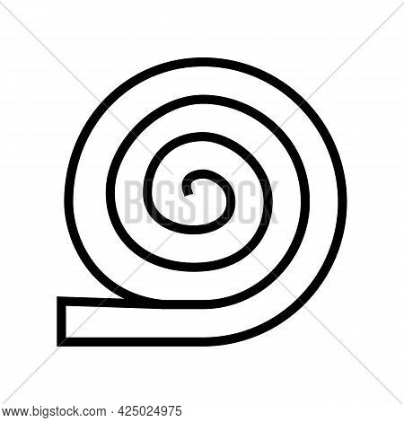 Roll Of Mineral Wool Line Icon Vector. Roll Of Mineral Wool Sign. Isolated Contour Symbol Black Illu