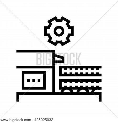 Production Rebar Line Icon Vector. Production Rebar Sign. Isolated Contour Symbol Black Illustration