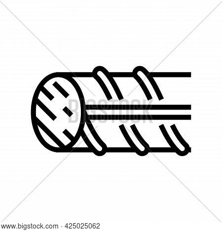 Hardened Steel Fittings Line Icon Vector. Hardened Steel Fittings Sign. Isolated Contour Symbol Blac