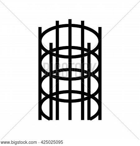Hrb500 Rebar Line Icon Vector. Hrb500 Rebar Sign. Isolated Contour Symbol Black Illustration