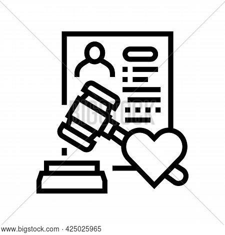 State Adoption Line Icon Vector. State Adoption Sign. Isolated Contour Symbol Black Illustration