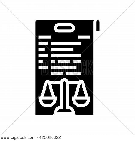 Due Diligence Glyph Icon Vector. Due Diligence Sign. Isolated Contour Symbol Black Illustration