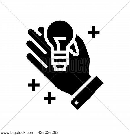 Intellectual Property Management Glyph Icon Vector. Intellectual Property Management Sign. Isolated