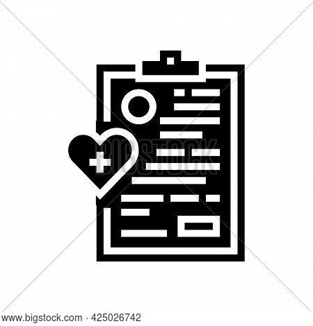 Elderly Human Medical Card Glyph Icon Vector. Elderly Human Medical Card Sign. Isolated Contour Symb