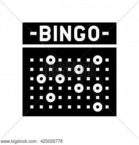 Bingo Game Glyph Icon Vector. Bingo Game Sign. Isolated Contour Symbol Black Illustration